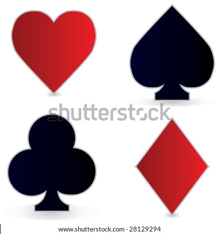 The 4 card suits.