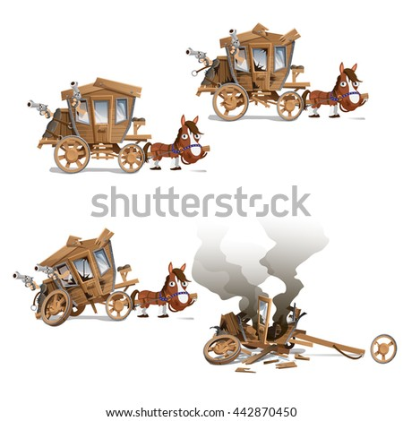 the carriage with armed bandits