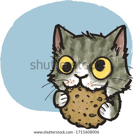 the cat who crazy about cookies