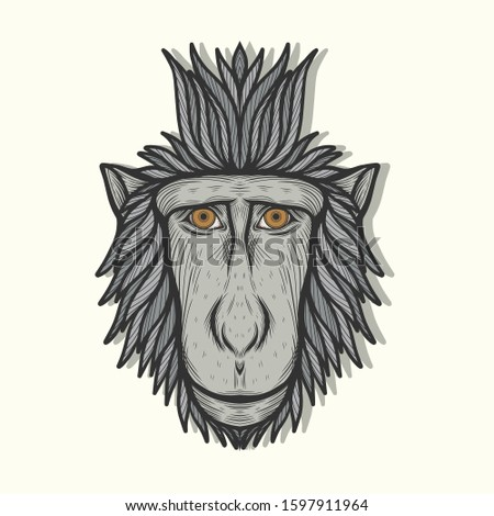 the celebes monkey portrait art