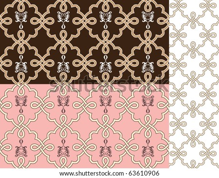 The Celtic patterns, seamless, vector illustration