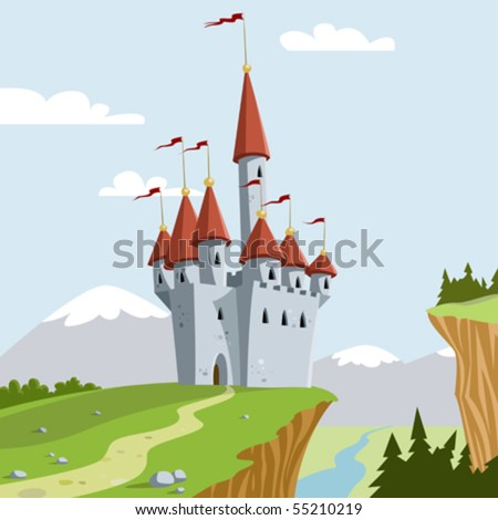 the chateau on a hill