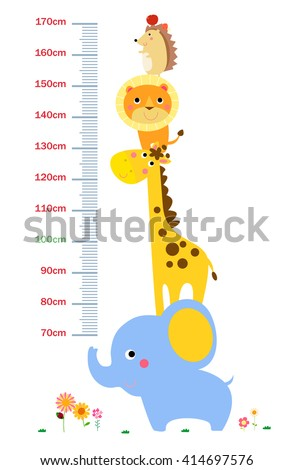 The child's height illustrations