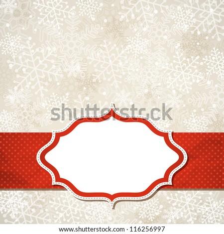 The Christmas frame. Vector illustration.