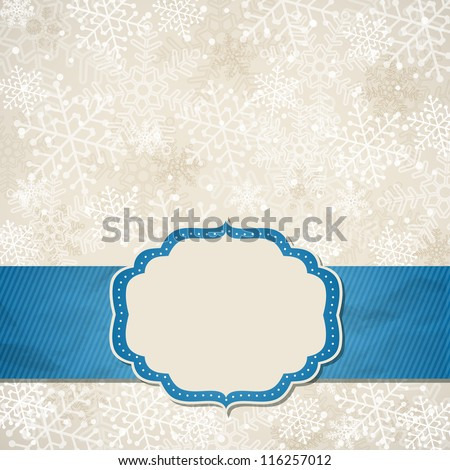 The Christmas frame. Vector illustration.