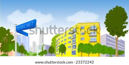 The City - stock vector