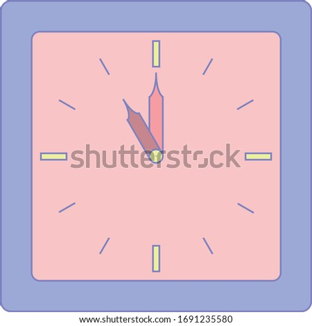 the clock of alarm with purple