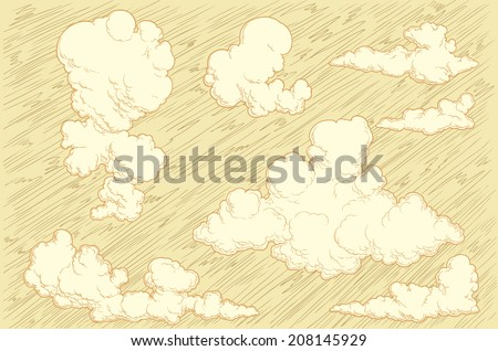 the clouds in the sky.vector...