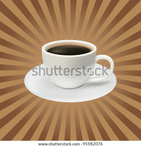 the coffee cup on a brown