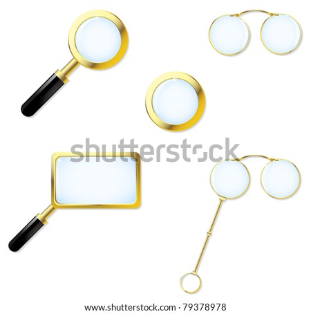 The collection consists of magnifying glasses, pensions and lorgnette