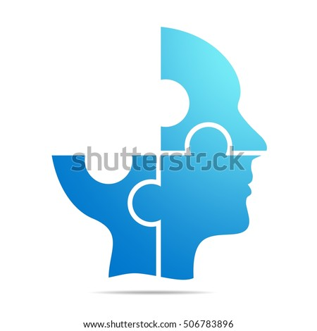 the color blue human head