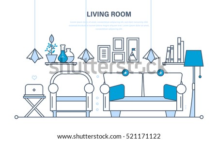 The Comfortable Living Room A For Reception Of Guest Home Furnishings And