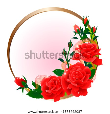 the composition of red roses
