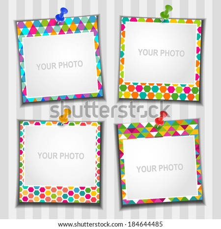 The composition photo frames Vector illustration Scrapbooking