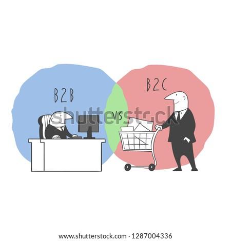 The concept of B2B VS B2C