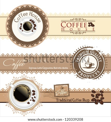 The concept of coffee house menu. Vector illustration