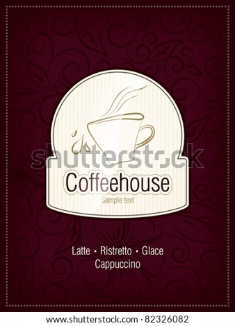 The concept of coffeehouse menu - stock vector