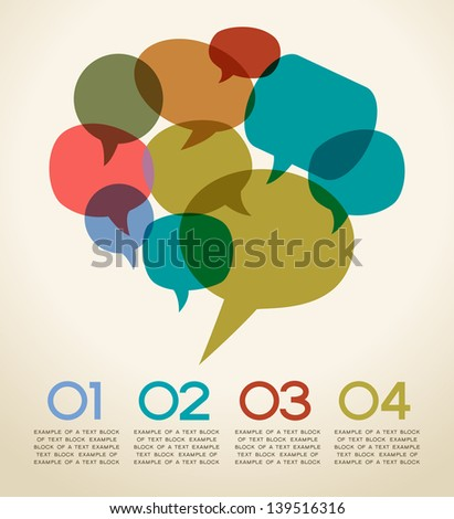 the concept of communication. Abstract infographics design with speech bubble. This work - eps10 vector file, contain transparent elements
