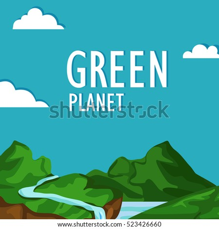 The concept of earth day. To save our planet. Green planet