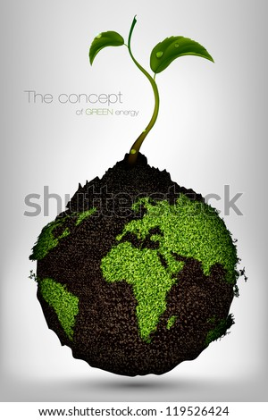 the concept of green energy on the planet