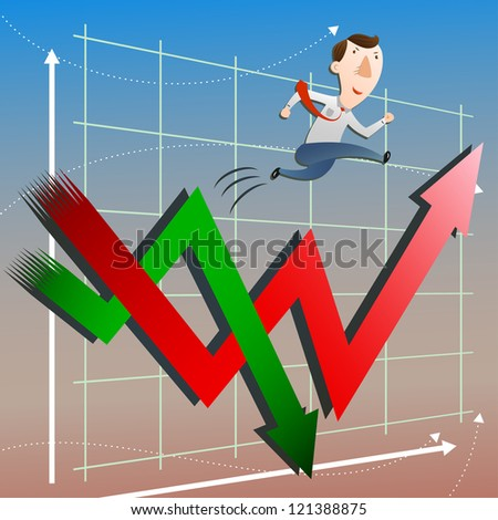 The concept of stock market with businessman