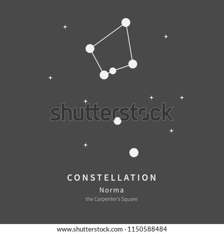 The Constellation Of Norma. The Carpenter's Square - linear icon. Vector illustration of the concept of astronomy