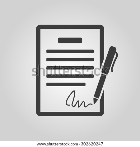 the contract icon. agreement...