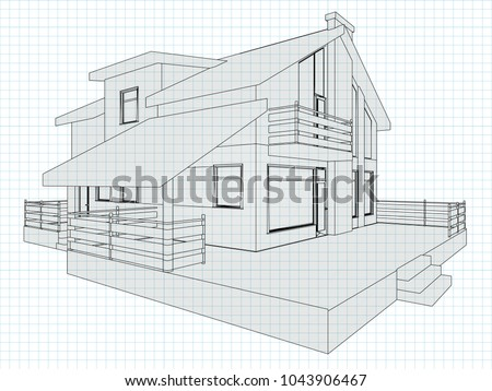 the cottage drawing on a