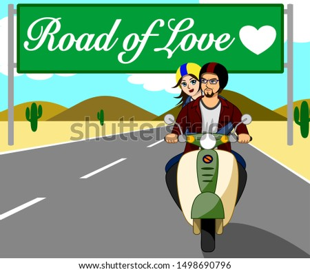 the couple are riding a