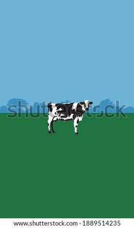 the cow deforestation vegan art