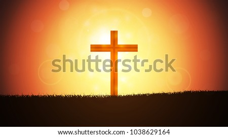 the cross consists of grassy