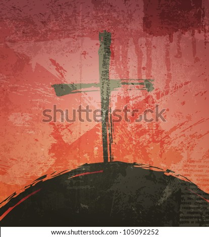the cross on the grunge