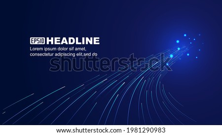 The curved light condenses into a beam velocity sensing vector background Photo stock ©