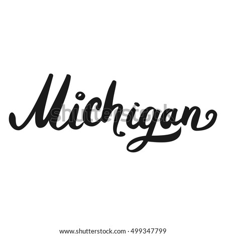 The custom hand lettering creative typography hand drawn greeting the custom hand lettering creative typography hand drawn greeting card with text michigan m4hsunfo