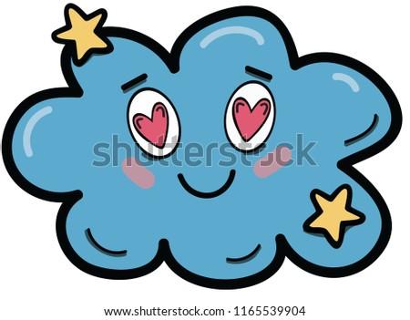 the cute prsonage cloud falling in love
