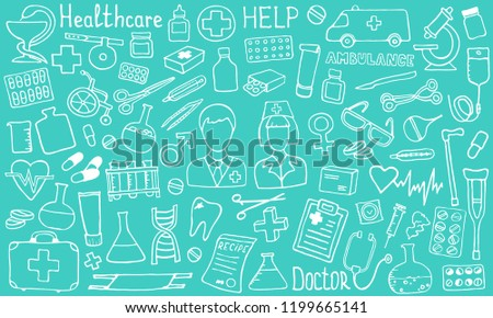 stock-vector-the-cutest-doodle-medicine-icon-set-for-your-design-hand-drawn-health-care-pharmacy-medical