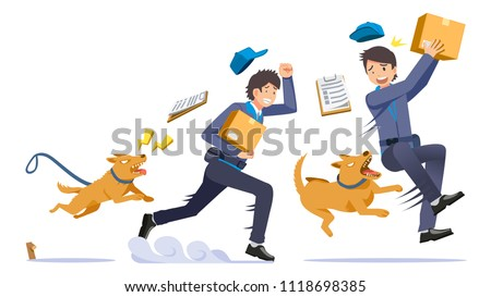 The danger of being a delivery man.  problem of pets in homes biting strangers sometime.