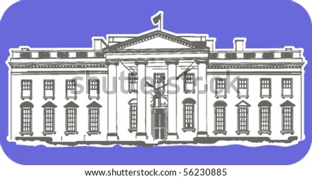 The depiction of White House