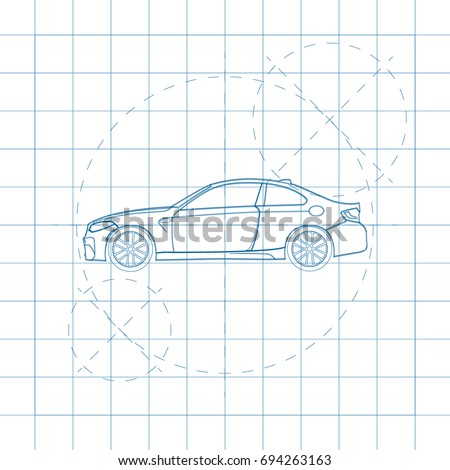 the design of the car drawing