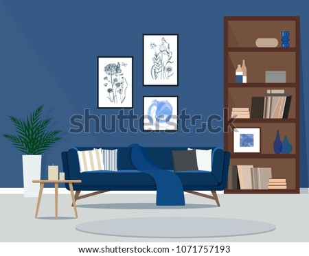 the design of the living room