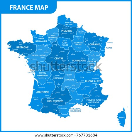 the detailed map of the france