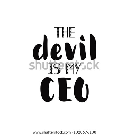the devil is my ceo lettering