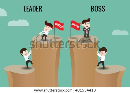 the difference between leader