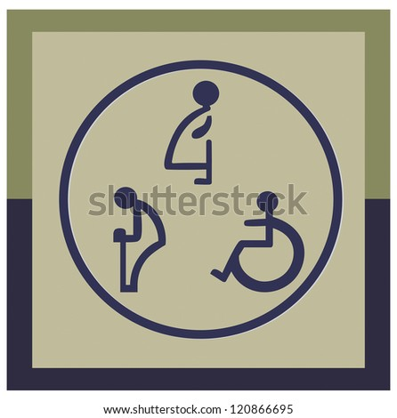 The disabled toilet or Restroom signs
