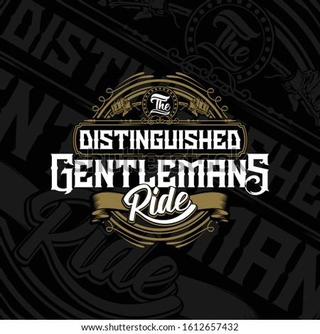 the distinguished gentlemans ride of ilustration design