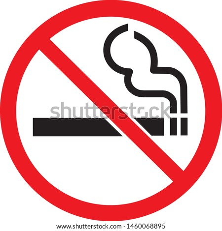 the do not smoke sign