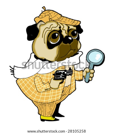 The dog-detective trails the criminal