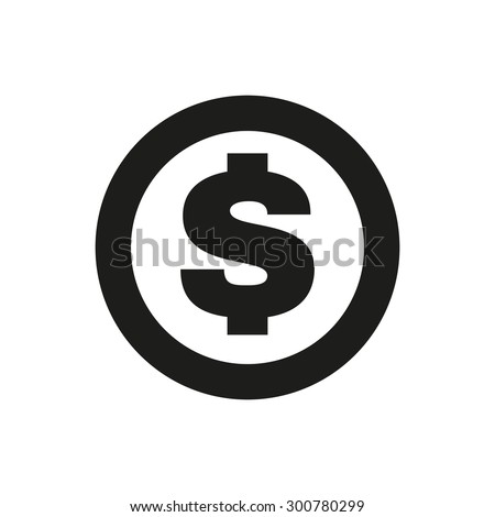 The dollar icon. Cash and money, wealth, payment symbol. Flat Vector illustration
