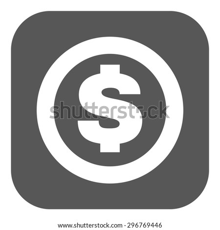 The dollar icon. Cash and money, wealth, payment symbol. Flat Vector illustration. Button