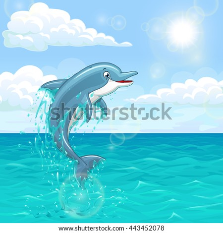 the dolphin who is jumping out
